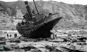 Fishing Boat Aground Near Scarborough